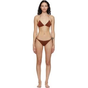 Oseree Brown Lumiere Halter Bikini