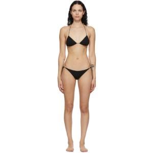 Oseree Black Lumiere Halter Bikini