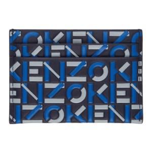Kenzo Navy and Blue Monogram Card Holder