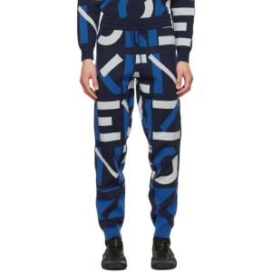 Kenzo Navy Jacquard Monogram Sport Lounge Pants