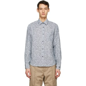 Kenzo Blue Leopard Casual Shirt