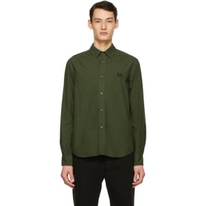 Kenzo Khaki Tiger Crest Shirt