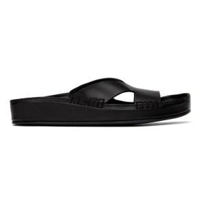 Kenzo Black Opanka Sandals