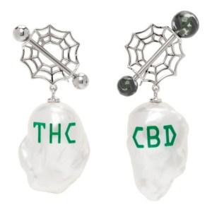 Jiwinaia Green Pearl CBD/THC Earrings