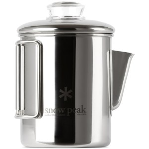 Snow Peak Silver Stainless Coffee Percolator, 30.4 fl oz