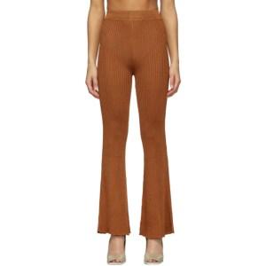 Calle Del Mar Orange Ribbed Lounge Pants