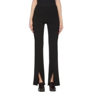 LVIR Black Slit Skinny Trousers