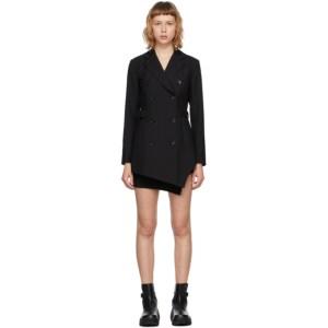 Hyein Seo SSENSE Exclusive Black Jacket Dress