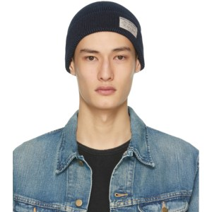 RRL Navy Watch Cap Beanie