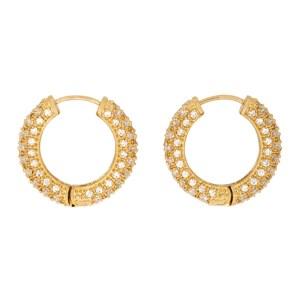 Numbering Gold Small 994 Hoop Earrings