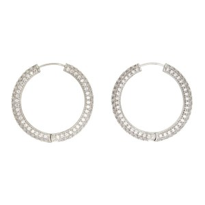 Numbering Silver Large 994 Hoop Earrings
