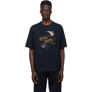 Dunhill Navy Spring Swallows T-Shirt