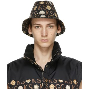 Gucci Black Ken Scott Edition Floral Bucket Hat