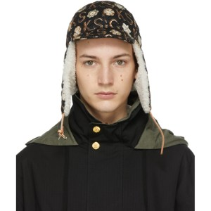 Gucci Black Ken Scott Edition Print Cap