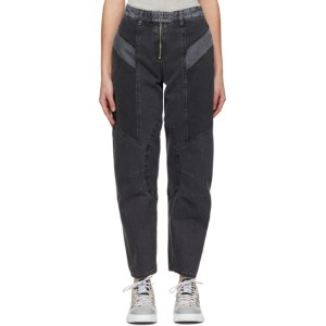 MCQ Grey Motor Paneled Jeans