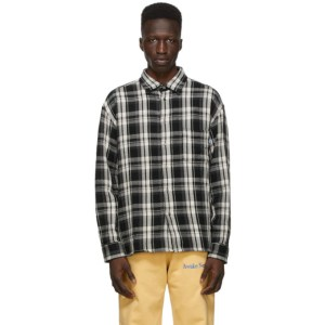 Awake NY Black Heavyweight Flannel Barbed Wire Shirt