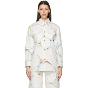 Stella McCartney White Denim Graphic Print Jacket