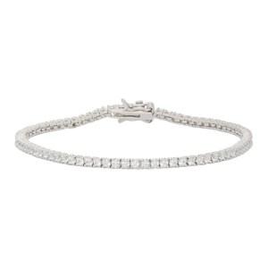 Hatton Labs Silver and White Tennis Bracelet