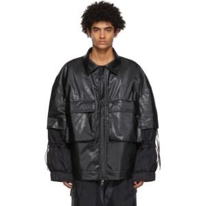 JERIH Black Padded Utility Jacket