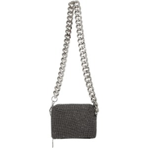 KARA Black Hematite Mesh Camera Bag