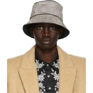 KARA Silver Crystal Mesh Bucket Hat