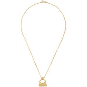Dear Letterman Gold Bariz Pendant Necklace