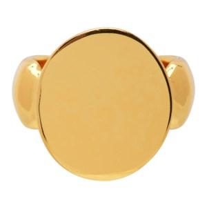 Dear Letterman SSENSE Exclusive Gold Wais Ring