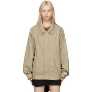 Lourdes Tan Poplin Backless Jacket