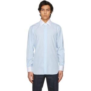 Husbands Blue Wide Collar Shirt