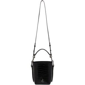 Jimmy Choo Black Croc Varenne Bag