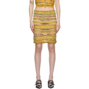 Louise Lyngh Bjerregaard SSENSE Exclusive Multicolor Wool Stripe Skirt