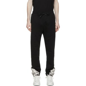 Marcelo Burlon County of Milan Black and White Wings Track Pants