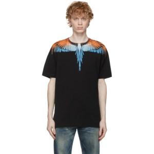 Marcelo Burlon County of Milan Black and Orange Wings T-Shirt