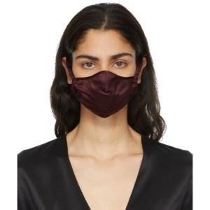 Fleur du Mal SSENSE Exclusive Burgundy Silk Face Mask