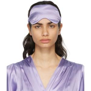 Fleur du Mal SSENSE Exclusive Purple Silk Sleeping Mask