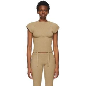 ISA BOULDER SSENSE Exclusive Beige Shield T-Shirt