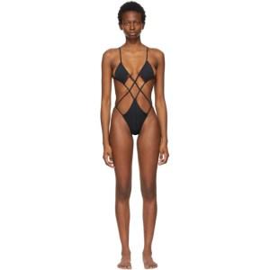 ISA BOULDER Black Argyle One-Piece Swimsuit