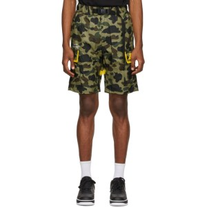 BAPE Green Camo 1st Logo 2layer Utility Shorts