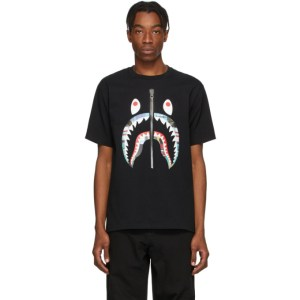 BAPE Black Patchwork Shark T-Shirt