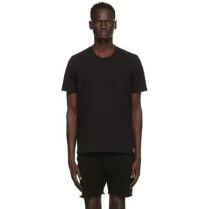 Les Tien Black Classic Pocket T-Shirt
