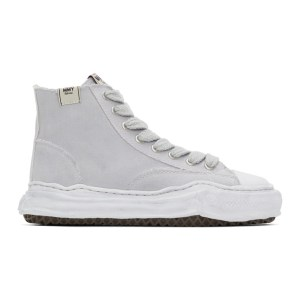 Miharayasuhiro Grey Over-Dyed OG Sole Peterson High Sneakers