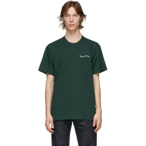Museum of Peace and Quiet Green Warped Wordmark T-Shirt