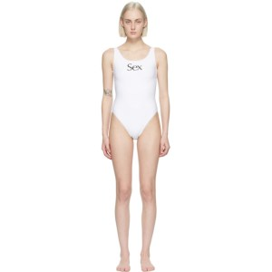 More Joy White Sex One-Piece Swimsuit