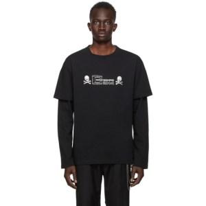mastermind JAPAN Black C2H4 Edition Double Layer T-Shirt