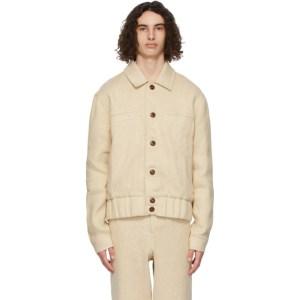King and Tuckfield Beige Harrington Jacket