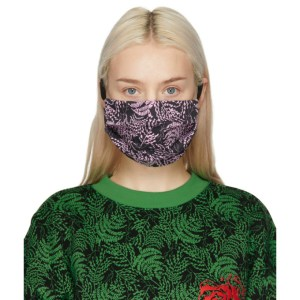 SSENSE WORKS SSENSE Exclusive Jeremy O. Harris Black and Pink Print Face Mask