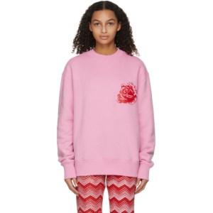 SSENSE WORKS SSENSE Exclusive Jeremy O. Harris Pink Rose Sweatshirt