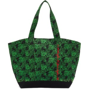 SSENSE WORKS SSENSE Exclusive Jeremy O. Harris Black and Green Cursive Text Tote