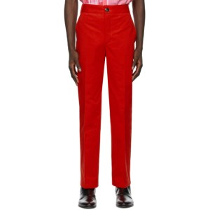 SSENSE WORKS SSENSE Exclusive Jeremy O. Harris Red Twill Chino Trousers