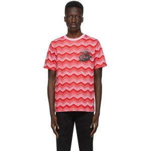 SSENSE WORKS SSENSE Exclusive Jeremy O. Harris Red and Pink Rose T-Shirt